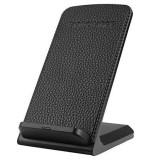 Incarcator wireless Edman S72 Qi, pentru birou, pentru Iphone 8, Iphone X, Samsung, doua bobine, negru