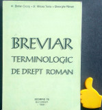 Breviar terminologic de drept roman Mircea Toma Stefan Cocos Gheorghe Parvan
