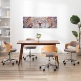 Set tablouri din pânză, imprimeu copac, multicolor, 120x40 cm, vidaXL