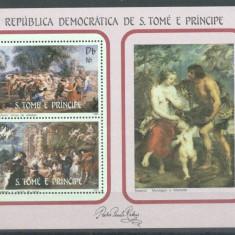 Sao Tome e Principe 1983 Paintings, Rubens, Easter, perf. sheet, MNH S.024