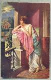 AD 279 C. P. VECHE -QUO VADIS ?- LYGIA WITH A SIGN OF FISH LET VINICIUS -PATATA, Franta, Circulata, Printata