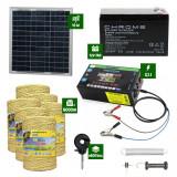 Pachet gard electric cu Panou solar 3,1J putere cu 6000m Fir 160Kg