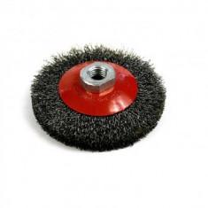 Perie sarma rotativa, tip disc, Strend Pro CCB-504, 100mm, M14