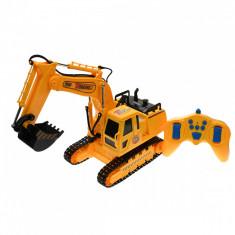 Excavator de jucarie cu telecomanda, baterii reincarcabile, functii complete - 8896B foto