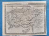 Harta a Asiei Mici, tiparita c.1850