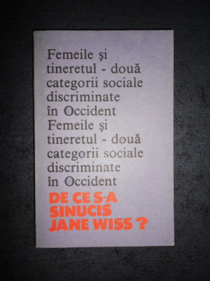 CAROL ROMAN - DE CE S-A SINUCIS JANE WISS ? foto