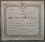 Diploma de merit Cassa Nationala de Economii si Cecuri Postale Bucuresti/ 1938