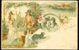Carte postala ilustrata, Germania, Sa te pazeasca Dumnezeu, 1900