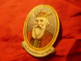 Efigie Alexandru cel Bun , carton dim.=6,7x4,5cm