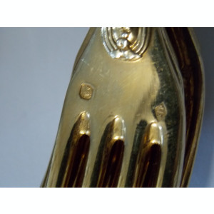Set tacamuri argint aurite -9010