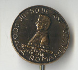 Insigna cultura educatie Scoala Romaneasca Liceul George Baritiu 1919-1969 Cluj