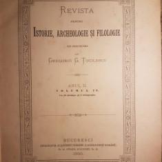 GREGORIU G. TOCILESCU -REVISTA PENTRU ISTORIE, ARHEOLOGIE SI FILOLOGIE IV {1885}