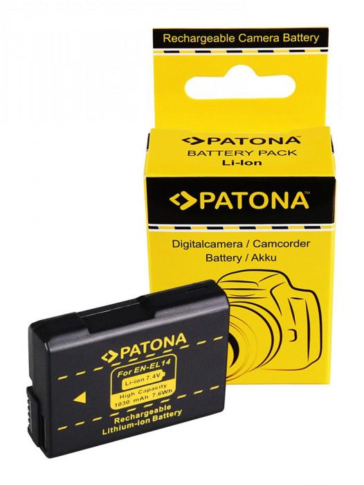 PATONA| Acumulator tip Nikon EN-EL14 EN EL14 ENEL14