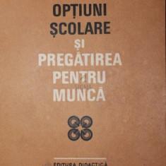 OPTIUNI SCOLARE SI PREGATIREA PENTRU MUNCA - A. CHIRCEV , AL. CIPLEA