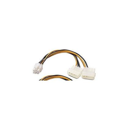 Cablu de alimentare la 2x Molex la 1x 6 Pini foto