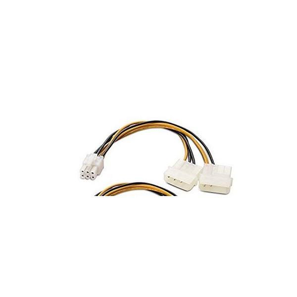 Cablu de alimentare la 2x Molex la 1x 6 Pini