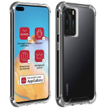 Husa de protectie antisoc pentru Huawei P40, AKASHI REINFORCED, Transparent