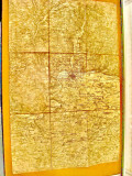 B570-Harta militara veche Deutches Reich Regensburg anii 1920 panza stare buna.