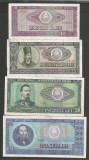 ROMANIA  LOT / SET 4 buc  : 10 + 25 + 50 + 100  LEI  1966  [2]  stari VF+ / XF +