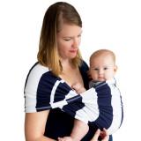 Sistem Purtare Baby Ktan Baby Carrier Print - Navy Stripe - Marimea XS