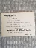1956, Invit. Derașa de Sabat Șuva, Dr. Moses Rosen, sinagoga Malbin, București