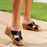 Papuci Cidomi negru cu platforma - rl