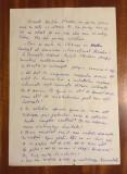 Manuscris 2 pag. GRIGORE VIERU - Interviu lui NICHITA STĂNESCU 10 întrebări 1976