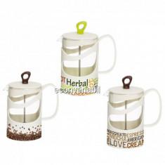 Infuzor din Sticla pentru Ceai sau Cafea 1000ml Herevin TGR3112 JU