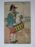 N-ai vazut niciodata Parisul,carte postala cu 8 mini fotografii pliante cca.1910, Franta, Circulata, Printata