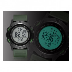 Ceas Sport/Militar,Rezistent Apa 5 ATM,Alarma,Cronometru,Background Iluminat