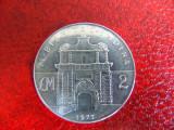 Moneda argint 2 Lire Malta 1973