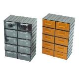 DULAP PLASTIC 213X304X125MM / 10 SERTARE TRANSPARENTE