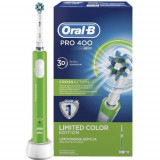 Periuta de dinti electrica Oral-B Pro 400 D16.513, 1 capat CrossAction, 1 program (Verde)