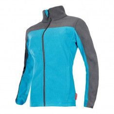 Jacheta Polar dama, 2 buzunare cu inchidere prin fermoar, impermeabila, marime 2XL, Albastru/Gri