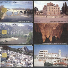 Greece 1997 OTE 3 Telephone cards Landscapes CT.002
