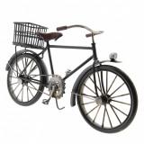 Macheta bicicleta retro metal neagra 31x10x16 cm, Clayre & Eef