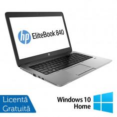 Laptop HP Elitebook 840 G2, Intel Core i5-5200U 2.20GHz, 8GB DDR3, 120GB SSD, 14 Inch + Windows 10 Home