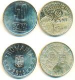 SV * Romania  LOT 2 x  50 BANI 2014 * comemorativa + simpla     UNC   din fasic