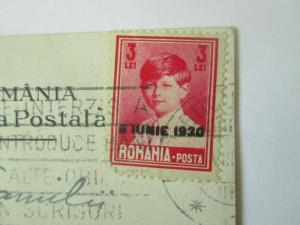 C.postala 1930 Băile Herculane-Salon de cură,reclamă gumă,an greșit,timbru supr.
