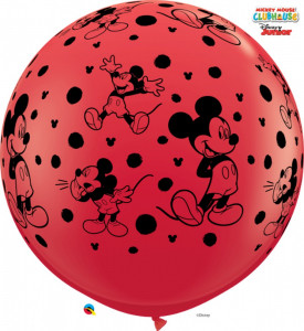 Balon Latex Jumbo 3 ft Mickey Mouse Disney, Qualatex 49576, 1 buc