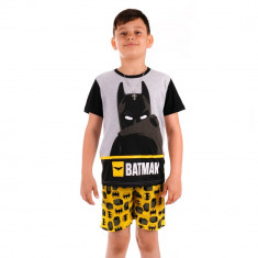 Pijama baieti Lego Batman neagra cu gri