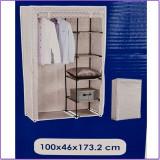Dulap textil pentru depozitare, 100 x 46 x 174 cm, 2