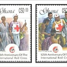 Ghana 1988 - crucea rosie, serie neuzata