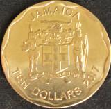 Moneda exotica 10 DOLARI / DOLLARS - JAMAICA, anul 2017 *cod 1112 A - A.UNC, America de Nord