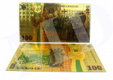 Romania-100 lei 2018 (reproduceri) bancnote polimer placate cu aur 24k si argint