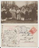 ROMANIA 1910 ilustrata folclorica costume populare Bucuresti circulata Olanda