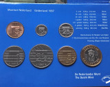 Olanda  set   2 1/2 ,  1 5  gulden  25 centi, 10 centi , 5 centi  1997 UNC, Europa