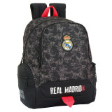 Cumpara ieftin Ghiozdan-Rucsac Real Madrid negru-roz adaptabil 43cm