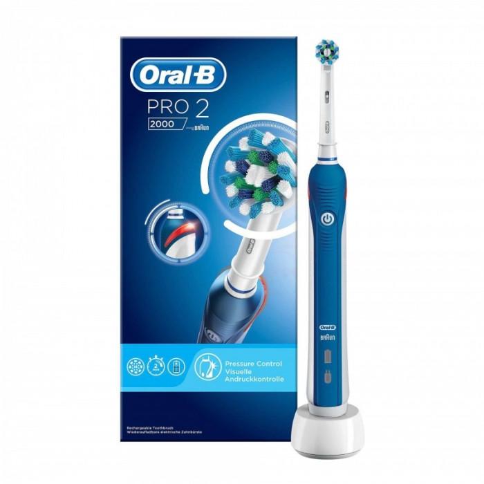 Periuta electrica Oral B PRO 2000 Cross Action, 40000 pulsatii/min