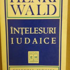 HENRI WALD - INTELESURI IUDAICE (HASEFER, 1995, 188 p.)